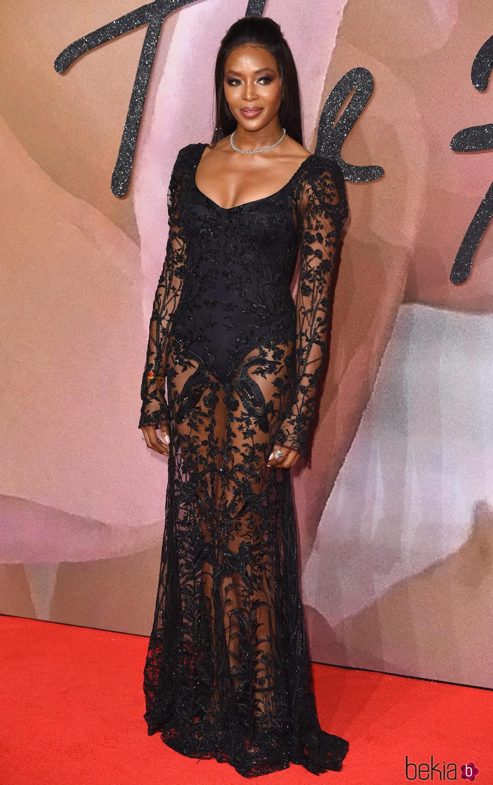 Naomi Campbell en los British Fashion Awards 2016