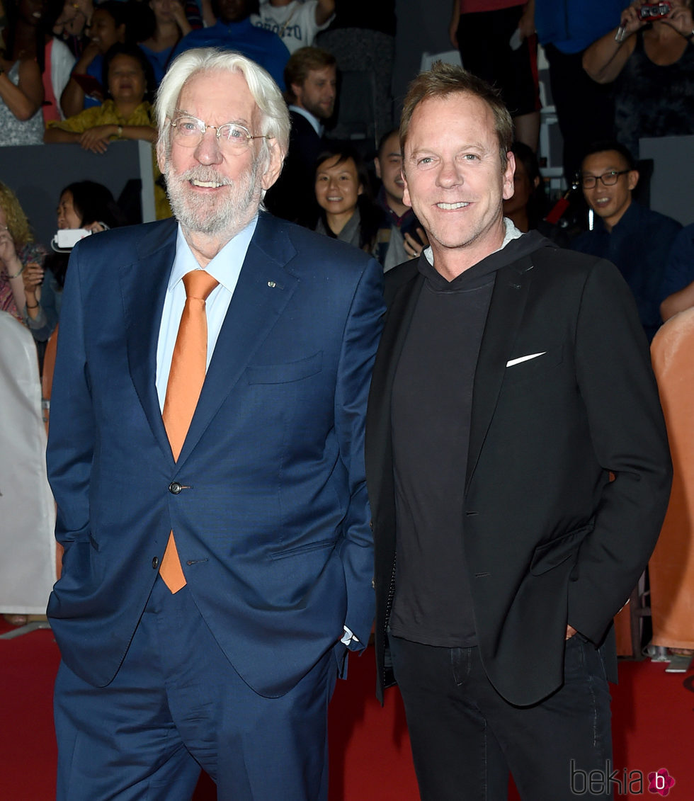 Donald y Kiefer Sutherland en el Toronto International Film Festival 2015