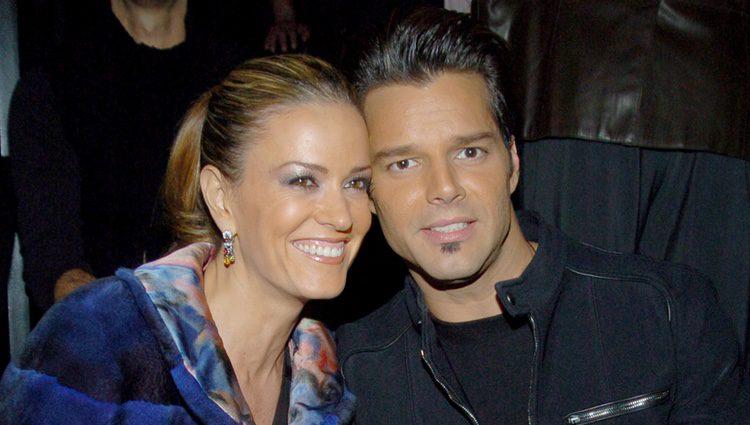 Ricky Martin junto a Rebecca de Alba