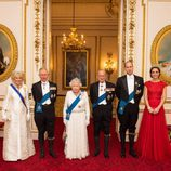 La Familia Real Británica en la recepción al Cuerpo Diplomático