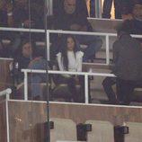 Georgina Rodriguez apoyando a Cristiano Ronaldo durante un encuentro