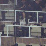 Georgina Rodriguez apoyando a Cristiano Ronaldo durante un partido