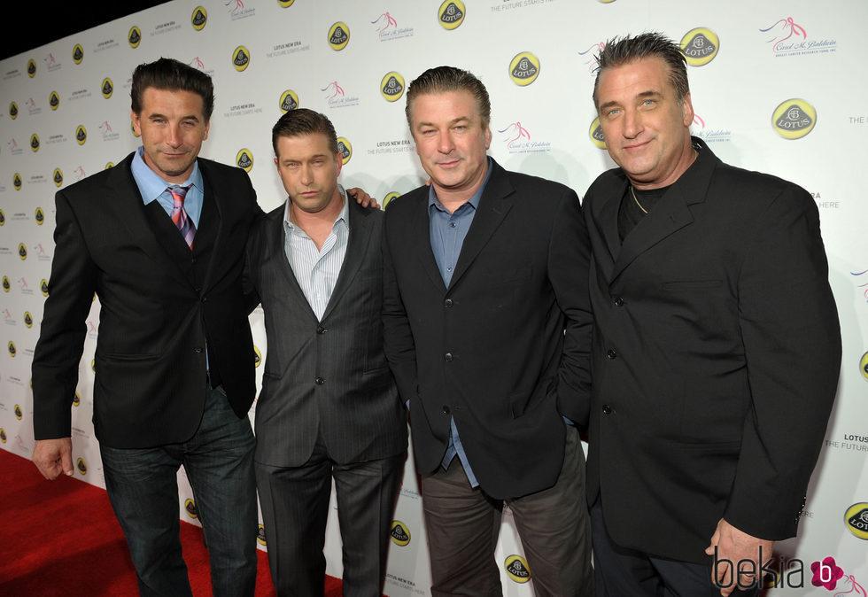 Lo hermanos Baldwin en un evento en Los Ángeles