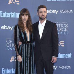 Jessica Biel y Justin Timberlake en los Critics' Choice Awards 2017