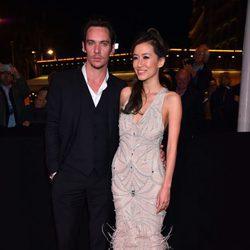 Jonathan Rhys Meyer y Mara Lane en la gala inaugural  MIPTV