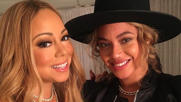 Beyoncé y Mariah Carey en el concierto navideño de Nueva York