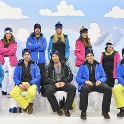 Los concursantes de la 'Sálvame Snow Week' posan al completo