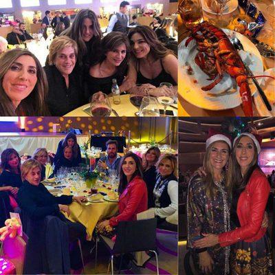 Collage de la cena de 'Sálvame' en Bingo Las Vegas