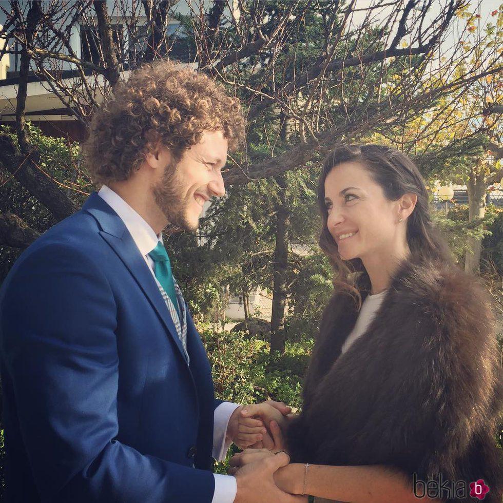 Daniel Diges y Alejandra Ortiz-Echagüe en su boda
