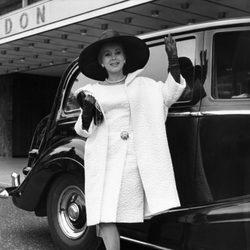 Zsa Zsa Gabor en Londres en 1964