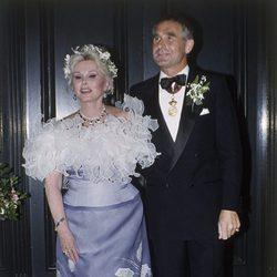 Zsa Zsa Gabor en su boda con Frederic von Anhalt