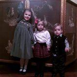 Estela, Leonor y Nicolás de Suecia en el almuerzo navideño 2016