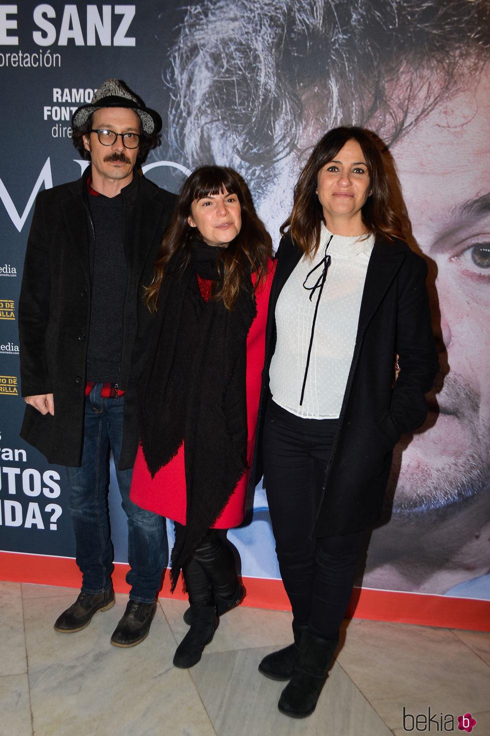 Melani Olivares y Fele Martínez en el estreno de la obra de teatro 'Tiempo'