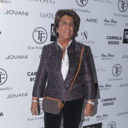 Conchita Pérez, la poligrafista, en el desfile de Tony Fernández