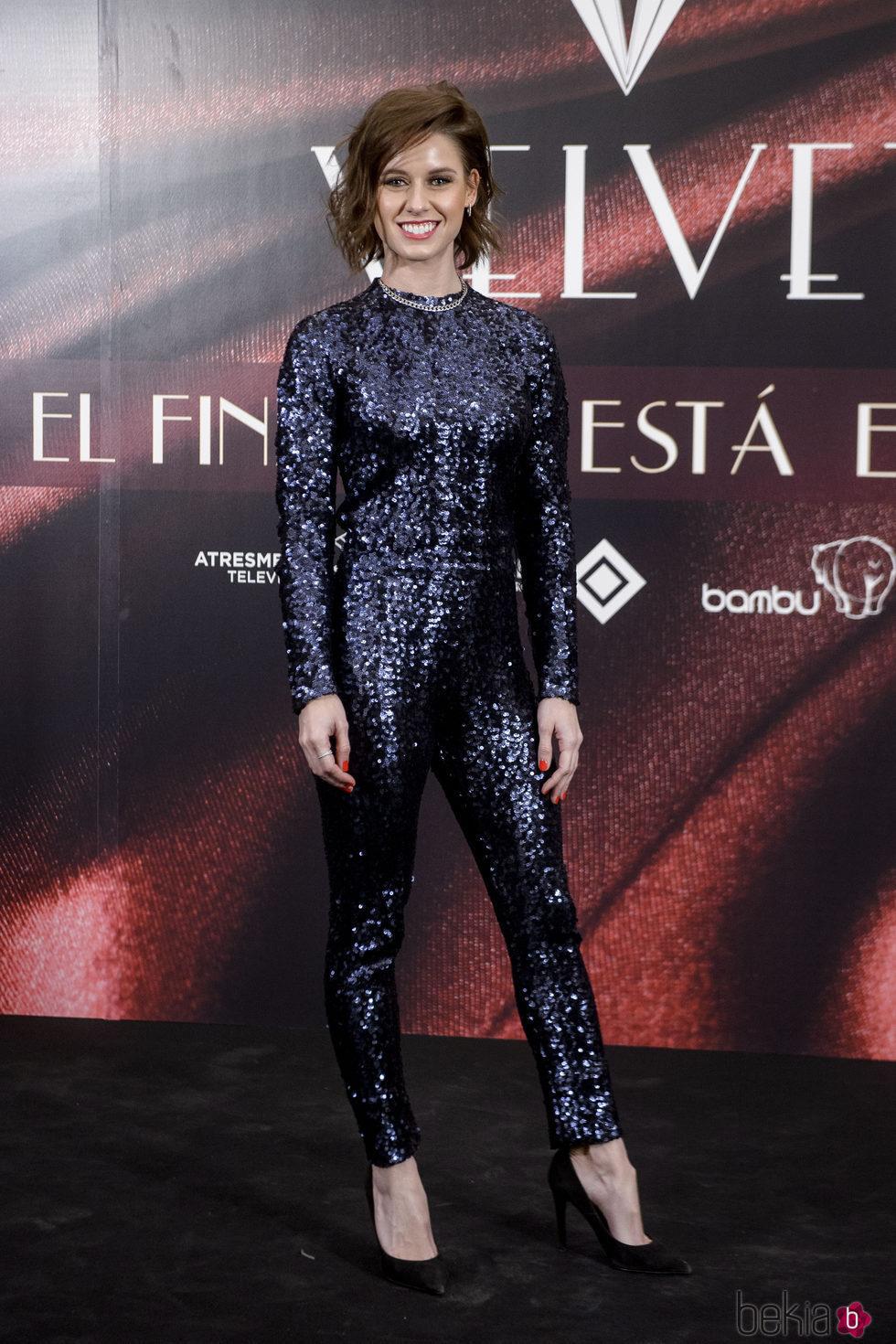 Manuela Vellés en la fiesta por el final de 'Velvet'