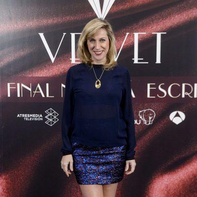 Cecilia Freire en la fiesta por el final de 'Velvet'