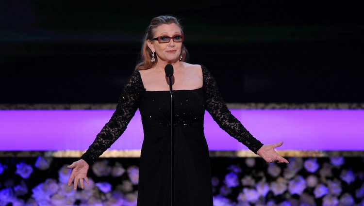 Carrie Fisher en los Premios Screen Actors Guild 2015