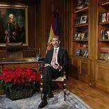 El Rey Felipe VI dando su anual discurso de Navidad