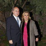 Carmen Borrego junto a su marido celebrando la Nochebuena
