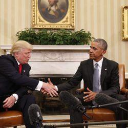 Obama recibe a Donald Trump en la Casa Blanca tras su victoria