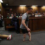Oscar Pistorius en el juicio por el asesinato de su novia