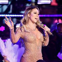 Mariah Carey enfadada en su actuación en Times Square