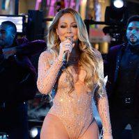 Mariah Carey en su actuación en Times Square