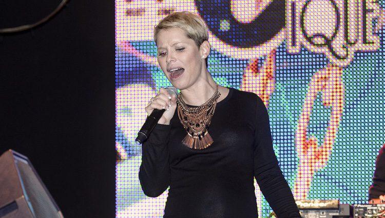 Soraya Arnelas en los ensayos de su último concierto antes de estrenarse como madre