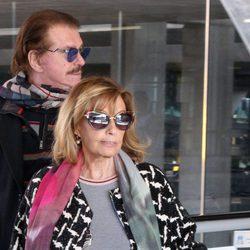Bigote Arrocet y María Teresa Campos en su regreso de Gran canaria