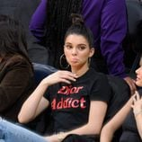 Kendall Jenner en un partido de la NBA en Los Ángeles