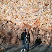 Belén Esteban y Miguel haciendo turismo en Ávila la víspera del Día de Reyes 2016