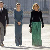 La Reina Letizia con Mariano Rajoy y María Dolores de Cospedal en la Pascua Militar 2017