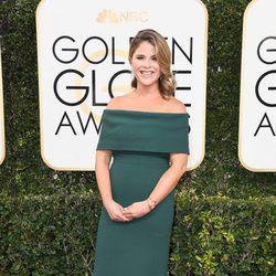 Jenna Bush en la alfombra roja de los Globos de Oro 2017