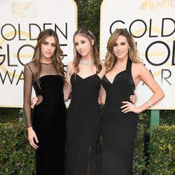 Las hijas de Sylvester Stallone en la alfombra roja de los Globos de Oro 2017