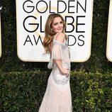 Drew Barrymore en la alfombra roja de los Globos de Oro 2017