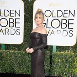 Goldie Hawn en la alfombra roja de los Globos de Oro 2017