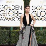 Jessica Biel en la alfombra roja de los Globos de Oro 2017