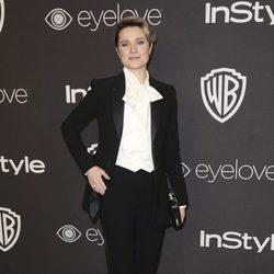 Evan Rachel Wood en la fiesta de Warner Bros tras los Globos de Oro 2017