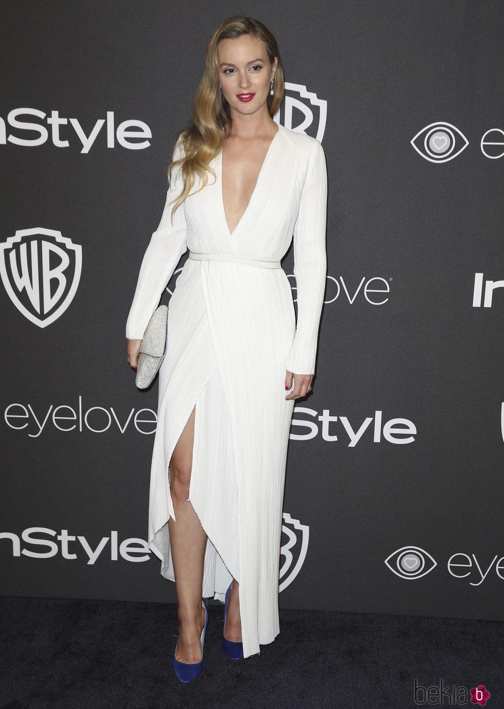Leighton Meester en la fiesta de Warner Bros tras los Globos de Oro 2017