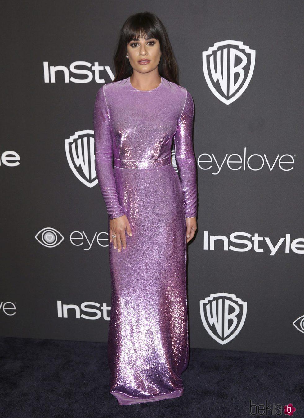 Lea Michele en la fiesta de Warner Bros tras los Globos de Oro 2017