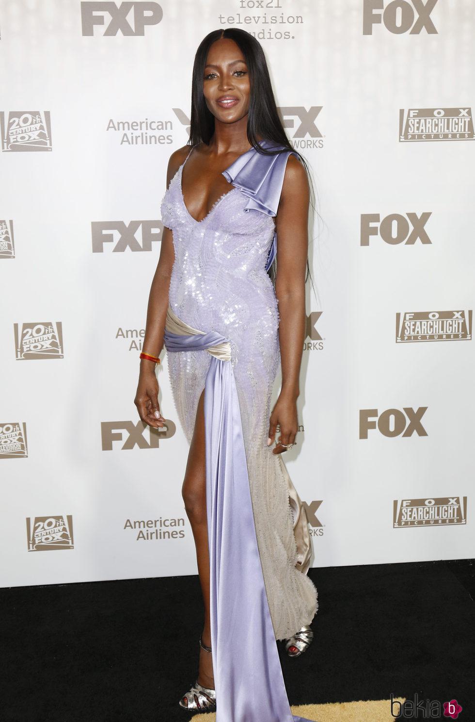 Naomi Campbell en la fiesta de Fox tras los Globos de Oro 2017