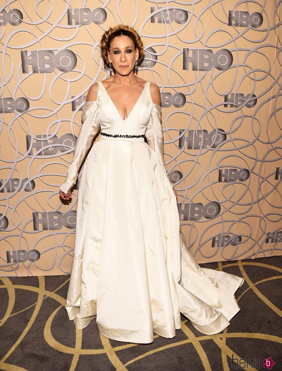 Sarah Jessica Parker en la fiesta de HBO tras los Globos de Oro 2017