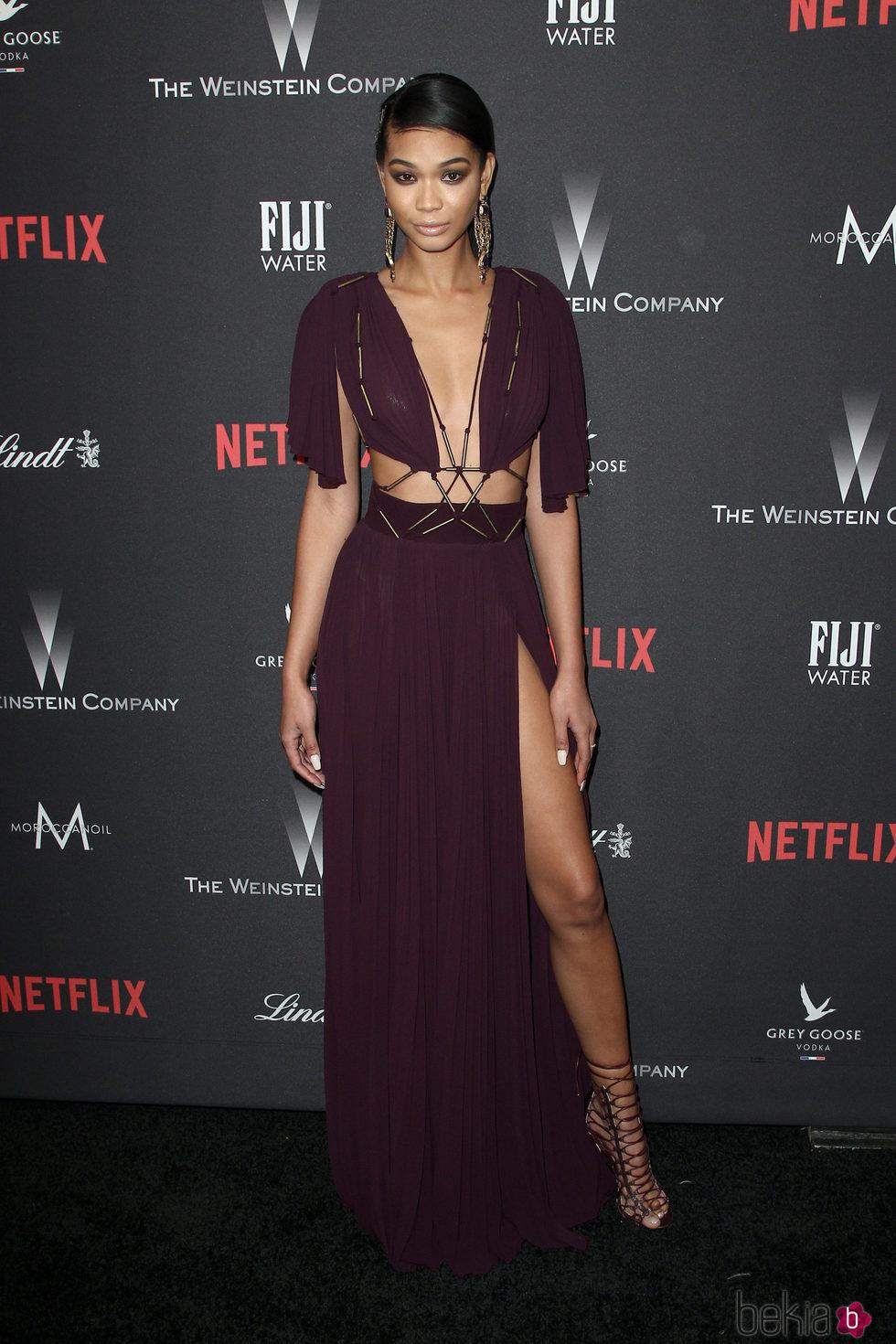 Chanel Iman en la fiesta de Netflix tras los Globos de Oro 2017