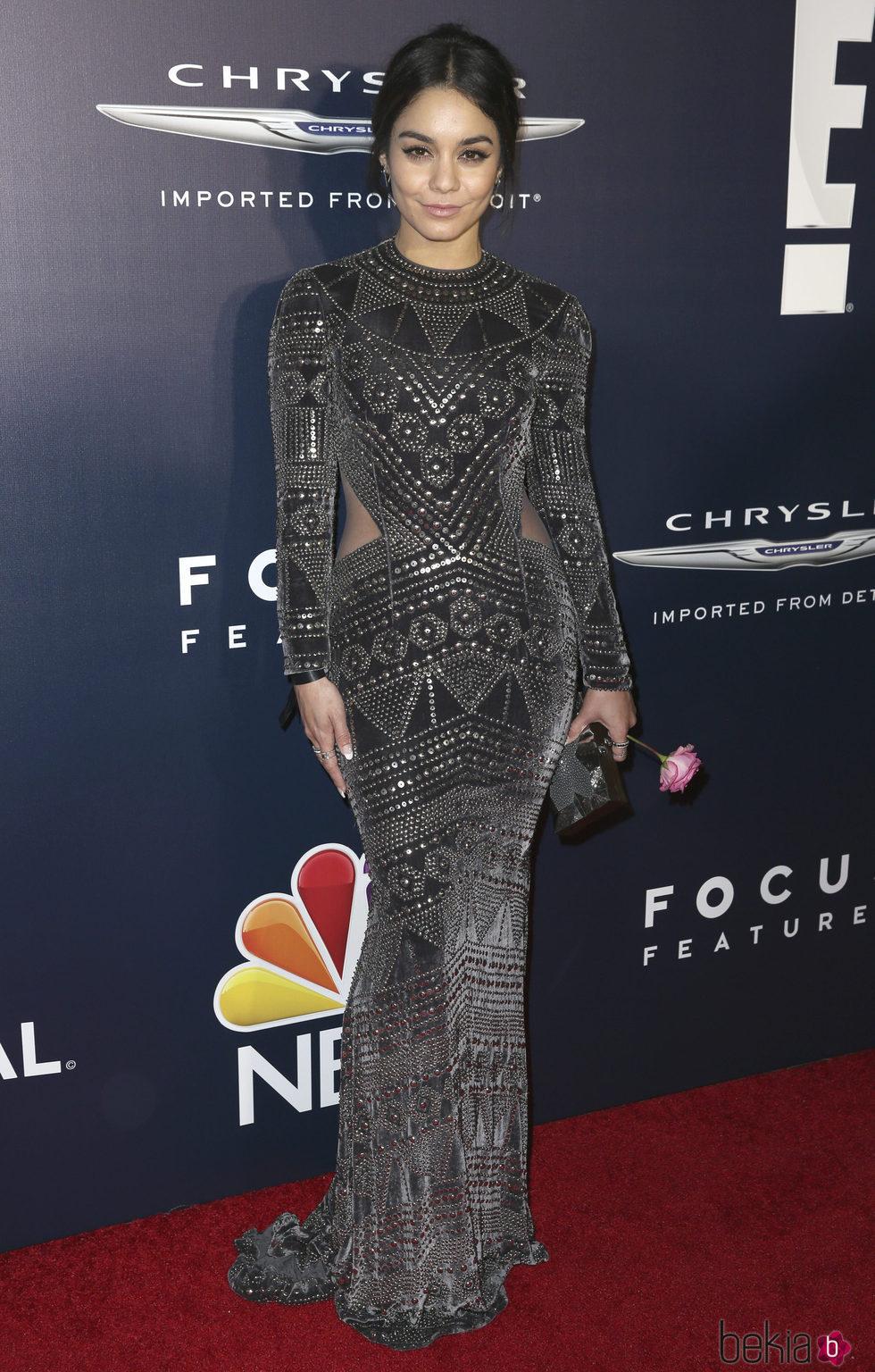 Vanessa Hudgens en la fiesta de NBC tras los Globos de Oro 2017