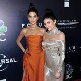 Kylie y Kendall Jenner en la fiesta de NBC tras los Globos de Oro 2017