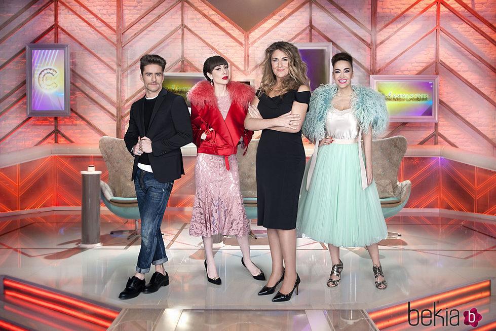 Pelayo Díaz, Natalia Ferviú, Carlota Corredera y Cristina Rodríguez en 'Cámbiame'