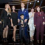 Cristiano Ronaldo en The Best FIFA Awards con su novia, su hijo y el resto de su familia