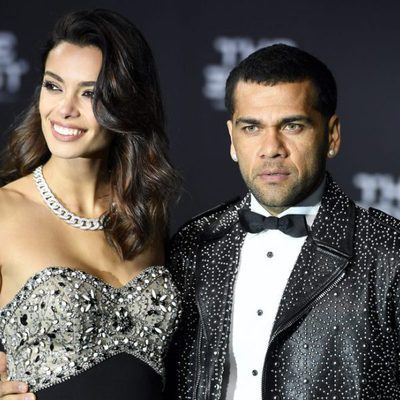 Joana Sanz y Dani Alves en The Best FIFA Awards 2016