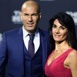 Zinedine Zidane y su mujer Véronique en The Best FIFA Awards 2016