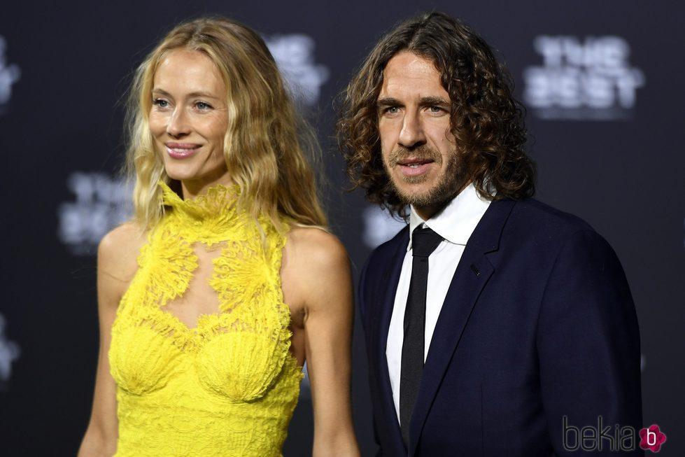 Carles Puyol y Vanesa Lorenzo en The Best FIFA Awards 2016